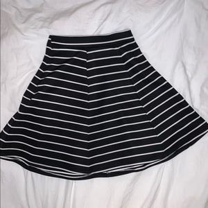 Black and white stripped skirt